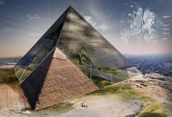 Bio-Pyramid: Reversing Desertification by David Sepulveda, Wagdy Moussa, Ishaan Kumar, Wesley Townsend, Colin Joyce, Arianna Armelli, Salvador Juarez.