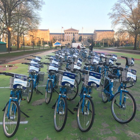 Philly's new bikeshare system. (Courtesy Facebook.com/rideindego)