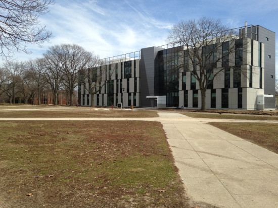 Farmingdale State College's new School of Business marks its shift in focus from agriculture to science and technology. (Courtesy Urbahn Architects)
