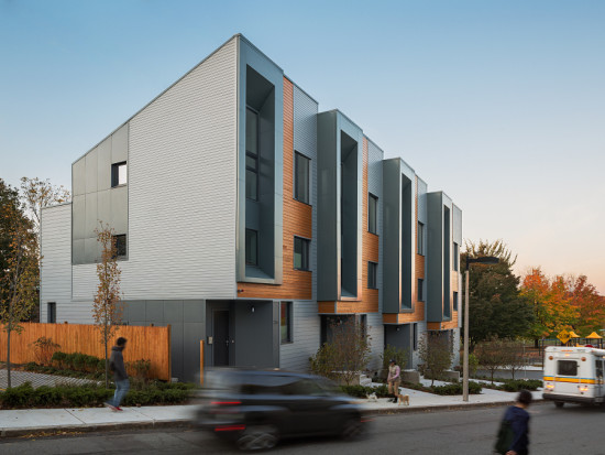 Interface Studio Architects' 226-232 Highland was the first project built under Boston's E+ Green Building Program. (Sam Oberter)