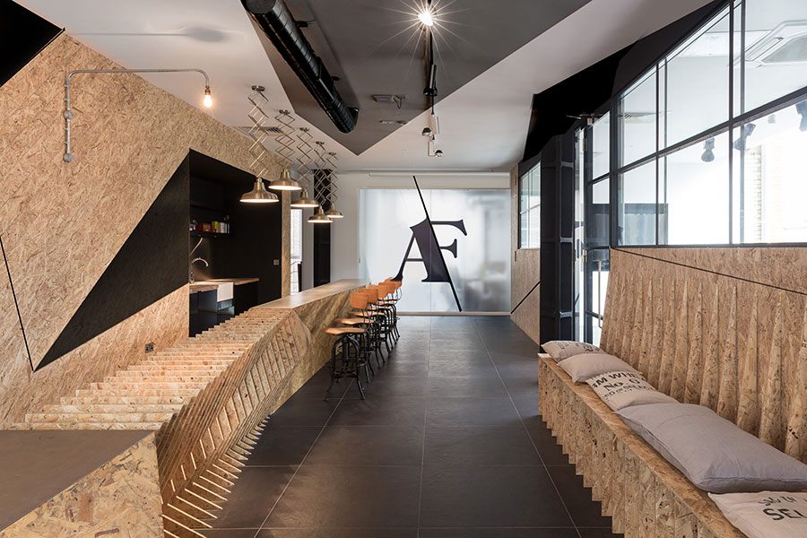 East london ad agency expands its office space with chic for Ad agency office design