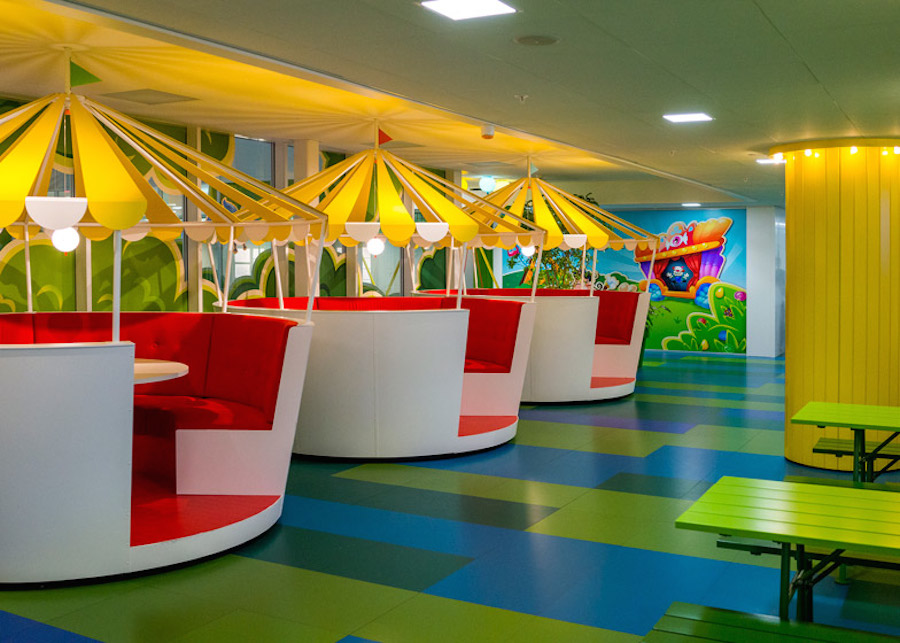 Employees at Candy Crush\'s Swedish company work inside a ...