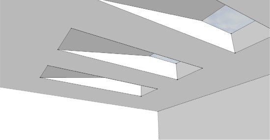 Rendering of the gallery's new skylights (Edward Cella Art and Architecture)