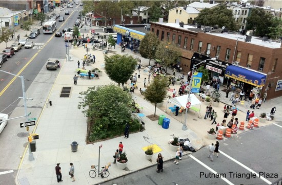 The existing Putnam Triangle Plaza. (Courtesy Fulton Area Businesses)
