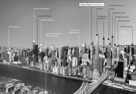 The possible Norman Foster-designed tower in the NYC skyline. (Bauhaus Group via NYPress)