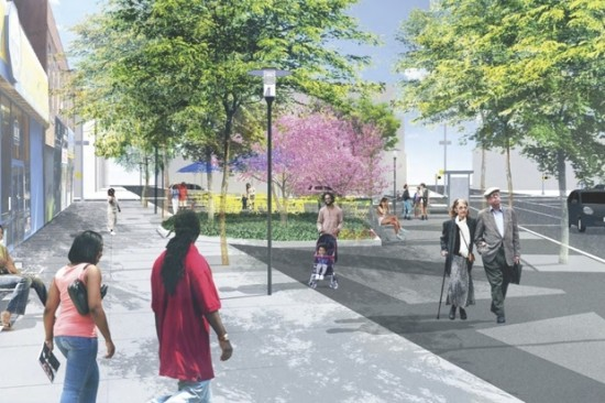 The new Putnam Triangle Plaza. (Courtesy Thomas Balsley Associates via Fulton Area Businesses)