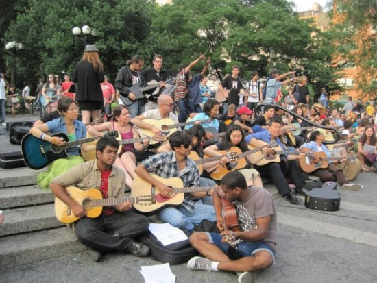 Among the 1,023 awards announced May 6 is one to Make Music New York to support a one-day festival of free, participatory outdoor concerts. Pictured here is one of their Mass Appeal events that took place in New York's Union Square. (Aaron Friedman)