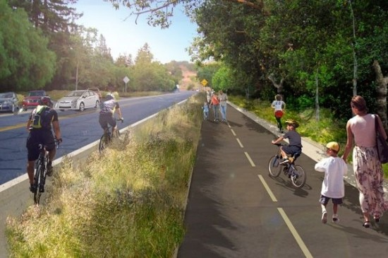 The trail would offer new paths for walkers and bikers. (BMS Design Group)
