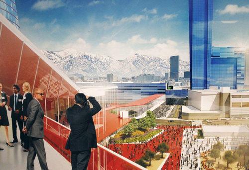 HMC Architects and Populous. Photo: Eddie Kim via Downtown News.