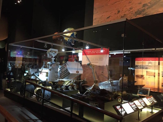 Robotic fleet of rover models now on display at the National Air and Space Museum in Washington DC (Courtesy NASA)