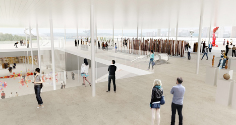 New gallery space by SANAA. (Courtesy SANAA via Art Gallery of New South Wales.)