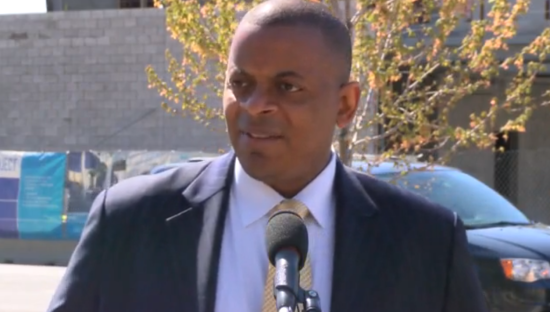 U.S. Department of Transportation Secretary Anthony Foxx in Indiana. (Courtesy WANE-TV Newschannel 15)