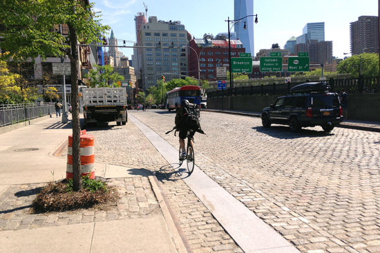The Varick bike lane. (Branden Klayko / AN)