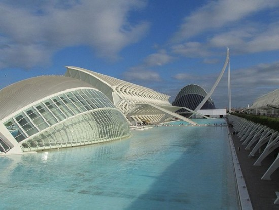 Calatrava's city of arts and sciences seen in Tomorrowland.