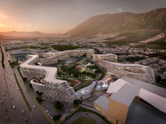 Esfera City Center in Monterrey is Zaha Hadid Architects' first project in Mexico. Image courtesy ZHA.