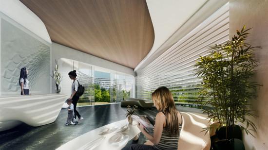 Esfera City Center in Monterrey is Zaha Hadid Architects' first project in Mexico. Image courtesy ZHA.