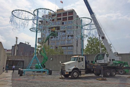 COSMO Being assembled at MoMA/PS1 in New York. (Matt Shaw)
