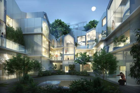8600 Wilshire interior courtyard. (Courtesy MAD Architects)