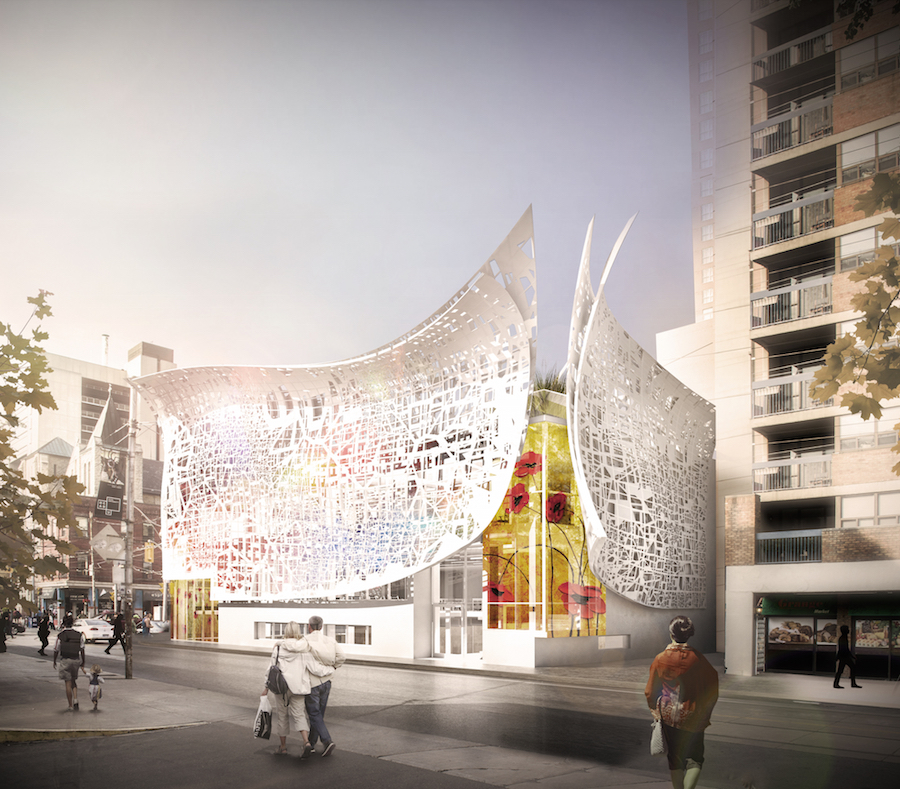 New Facade Peels Away From Building And Comes With
