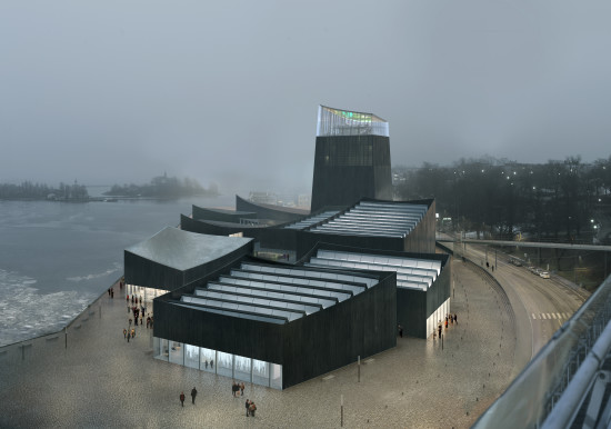 """Art in the City"" by Moreau Kusunoki Archictectes, the winning proposal for the Guggenheim Helsinki Competition. (Courtesy Moreau Kusunoki Architectes)"