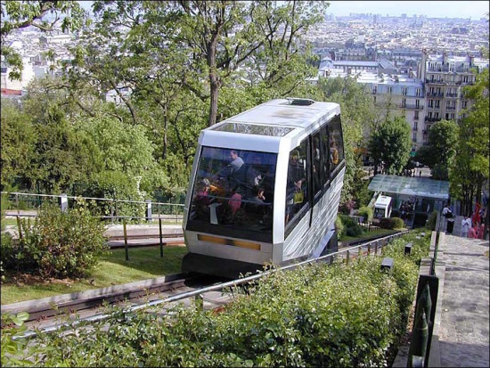 Montmartre Funicular Railway (Courtesy Wikimedia Commons)