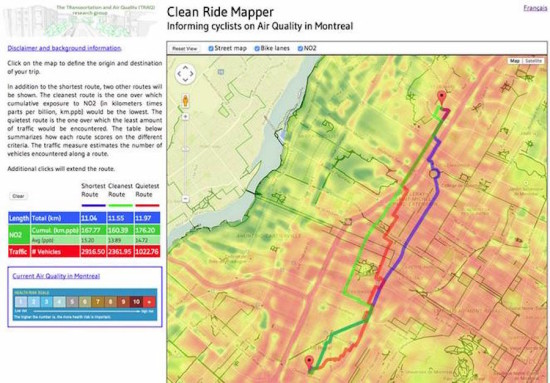 (Courtesy of Clean Ride Mapper)