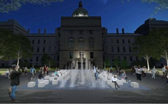 Indiana Bicentennial plaza (MKSK Studios)