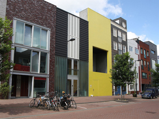 A mixed-use city block in the still-growing Ijburg neighborhood (Courtesy Amsterdam Architecture Tours)