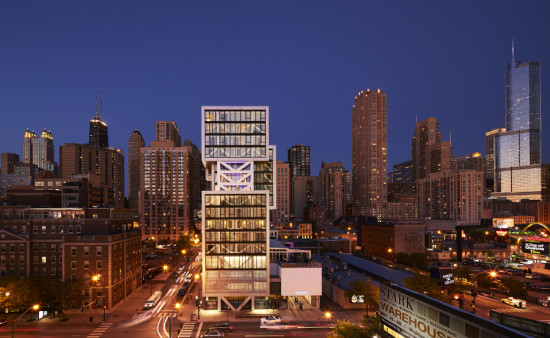 The building appears as a series of vertically-stacked boxes. (Steve Hall)