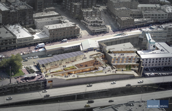 Once the Alaskan Way Viaduct is removed in 2016, MarketFront's terraces will connect to waterfront. (The Miller Hull Partnership)