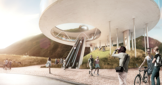 Bolzano Cable Car by Snohetta. (Courtesy Snohetta.