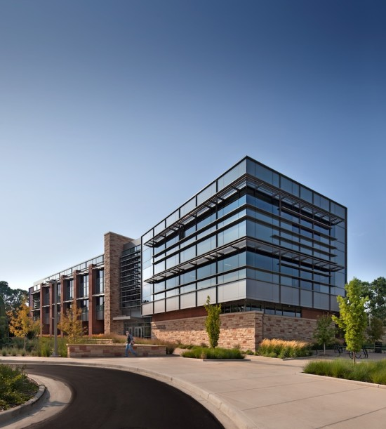 Hord Coplan Macht's Suzanne and Walter Scott, Jr. Bioengineering Building achieved LEED Gold certification without sacrificing transparency. (Courtesy Hord Coplan Macht)