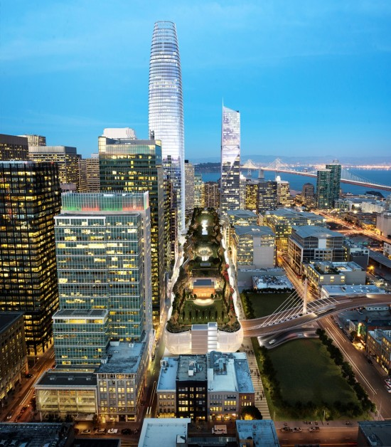 Transbay Transit District by Pelli Clarke Pelli. (steelblue, courtesy of Transbay Transit Center)