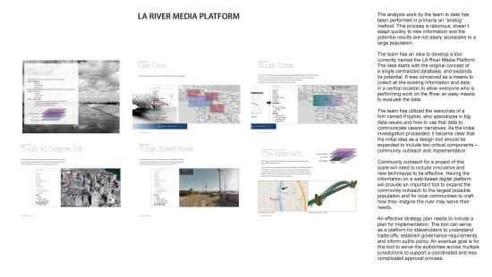 The L.A. River Media Platform designed by Prophet. (Courtesy of Gehry Partners)