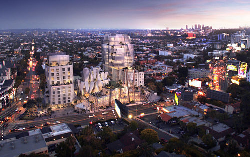 Gehry's new development along along the Sunset Strip. (Gehry Partners, LLP)