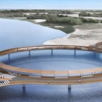A circular bridge will go up this November over Uruguay's beautiful Laguna Garzon, connecting two formerly remote shores