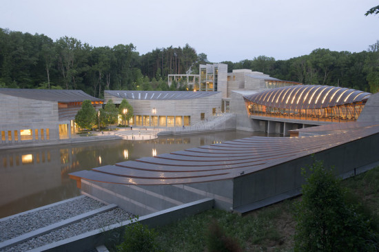 Crystal Bridges Museum of American Art in Bentonville (Courtesy The Walton Family Foundation/Drew Harris)