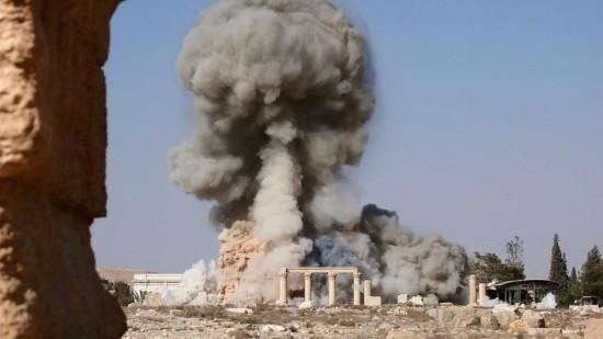 Destruction of Baalshamin Temple (Courtesy Wikipedia)