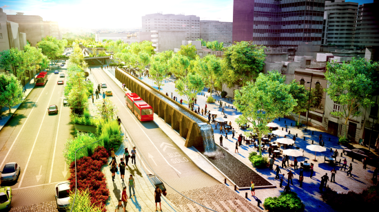 FR-EE's multimodal Cultural Corridor Chapultepec proposal for Mexico City. (Courtesy FR-EE)