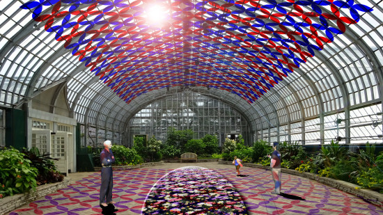 "Luftwerk Studio's ""solarise,"" will be a site-specific ""series of immersive light and sculpture installations"" at Chicago's Garfield Park Conservatory. (Luftwerk)"