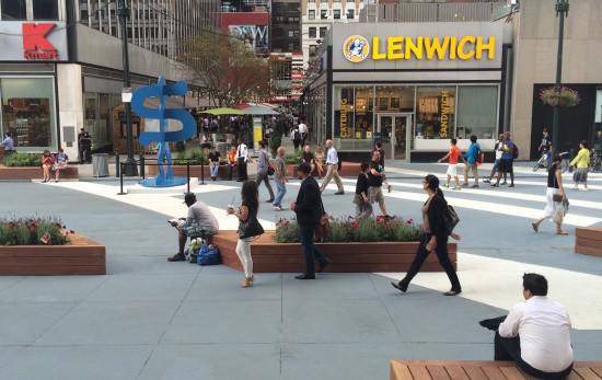 Plaza33. (StreetsBlog, Stephen Miller)