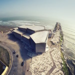Rojkind Arquitectos designs jagged waterfront concert hall to boost Mexico's reputation as a music and cultural hub