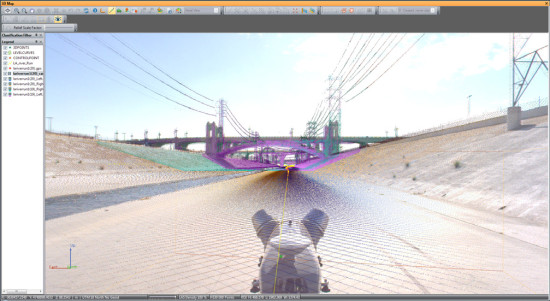Gehry Partners is using a LIDAR unit by Trimble to create a 3-D model of the L.A. River (Courtesy of Gehry Partners)