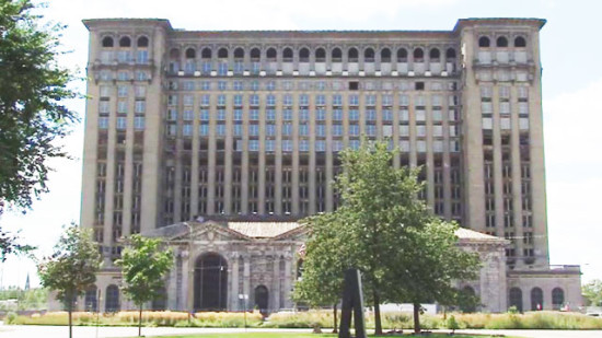 After years of dilapidation, Michigan Central Station boasts new windows on some floors. (FOX 2 Detroit)