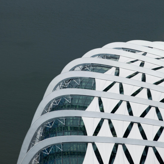 Detail, WilkinsonEyre's Cooled Conservatories, Gardens by the Bay, Singapore. (Courtesy WilkinsonEyre)