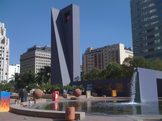 PERSHING SQUARE AS IT LOOKS NOW. (DAVID A GALVAN / FLICKR)