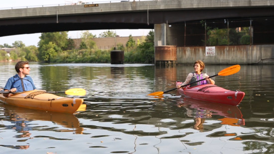 Paddling along the North Branch. (The Architect's Newspaper)
