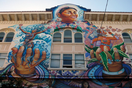 The MaestraPeace Mural in San Francisco's Mission District, one of the zones most affected by displacement (Courtesy Wally Gobetz)
