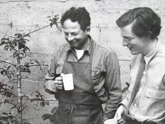 Nicholas Quennell (right) with Lawrence Halprin in San Francisco.
