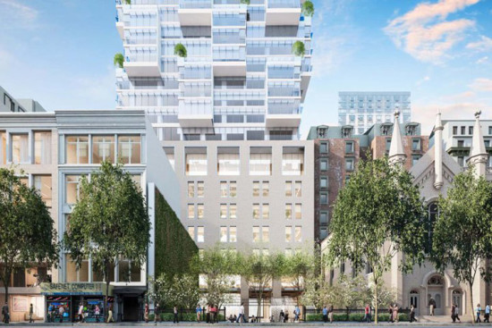 Moshe Safdie and HFZ Capital's proposed West 30th Street condominium tower (Courtesy Safdie Architects)
